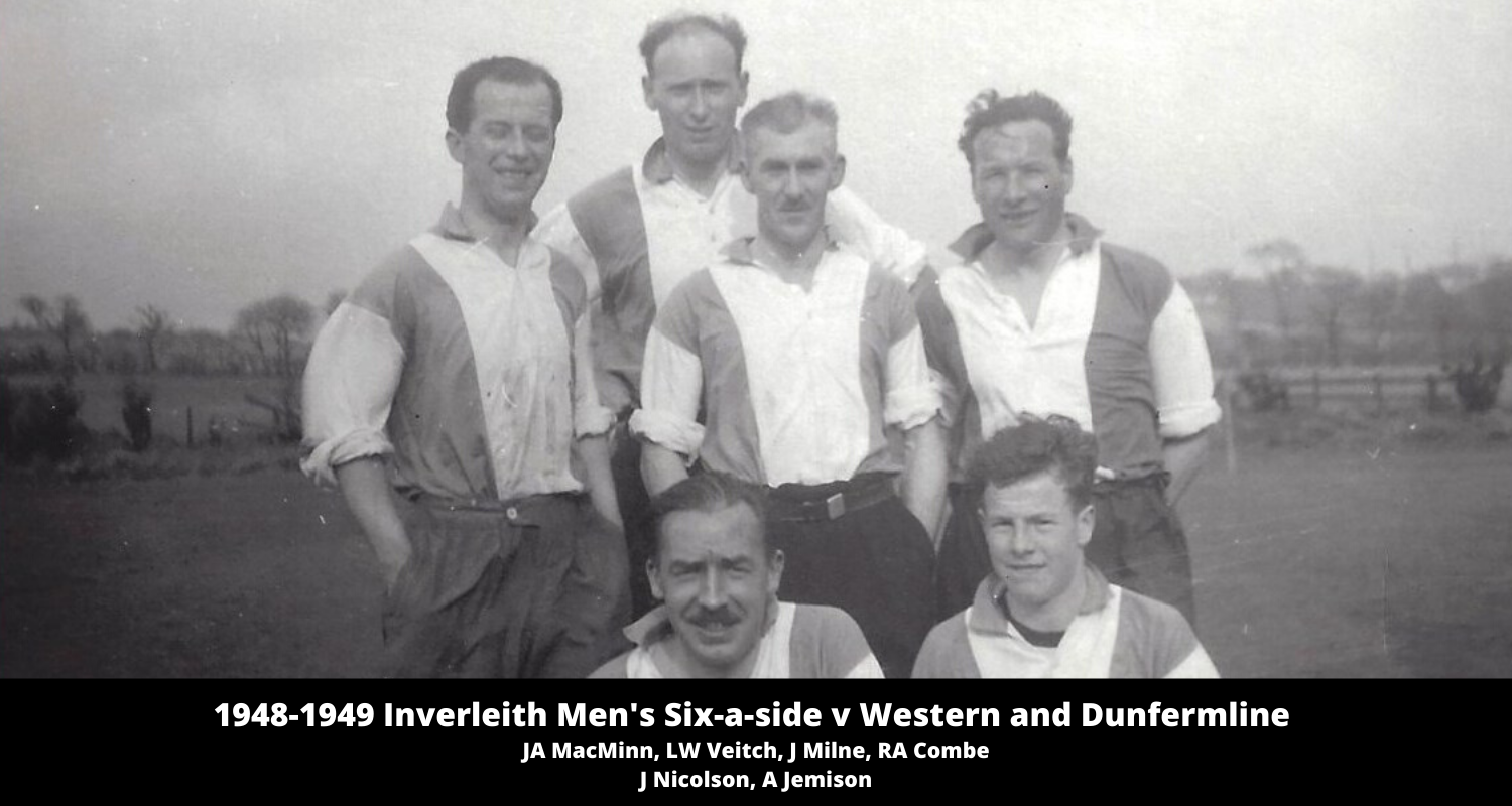 1948-1949 Inverleith Six-a-sides Western and Dunfermline