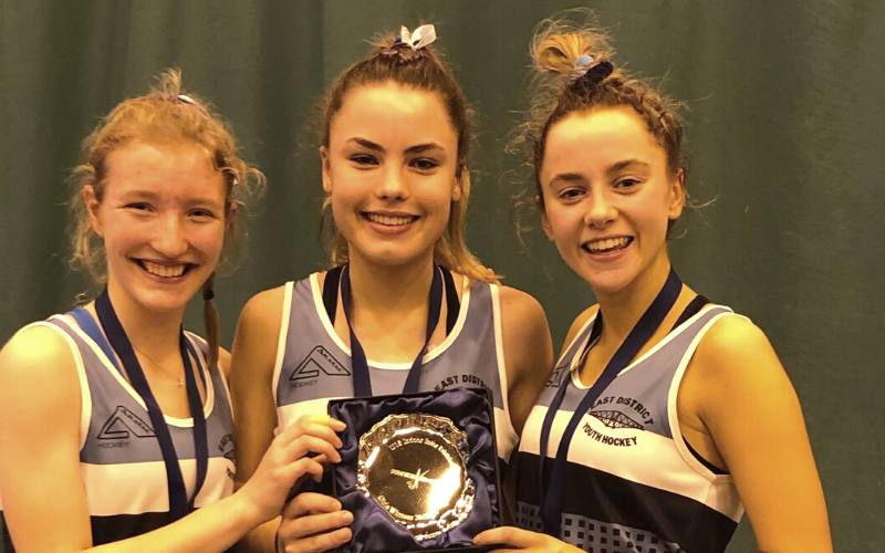 Sophie Hinds, Katie Swanson and Jennifer Veitch Inverleith Hockey Club